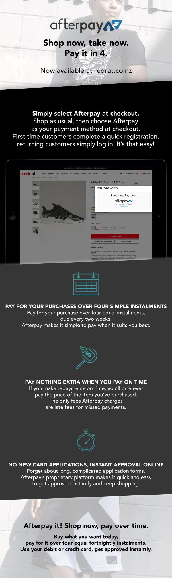 Main Afterpay Page
