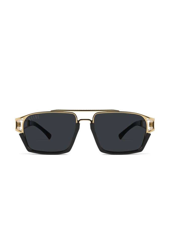 9FIVE Kingpin Black & 24k Gold Sunglasses