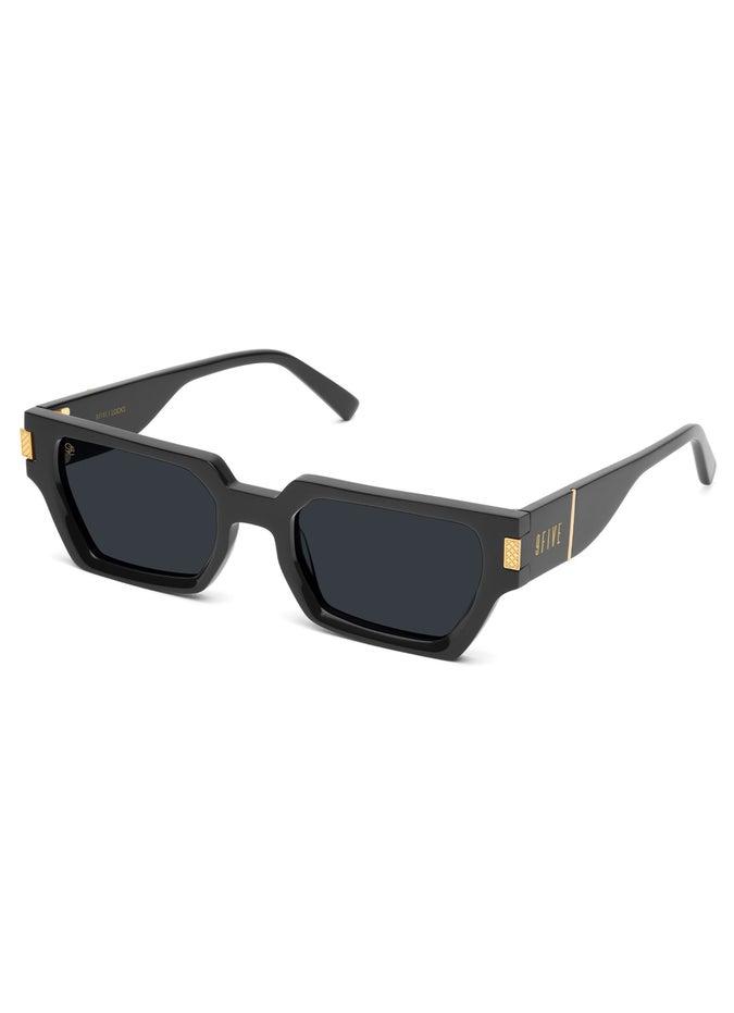 9FIVE Locks Black & 24K Gold Sunglasses