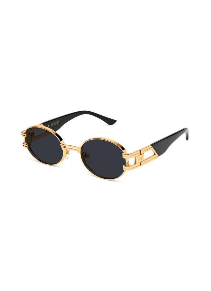9FIVE St. James Black & Gold Sunglasses