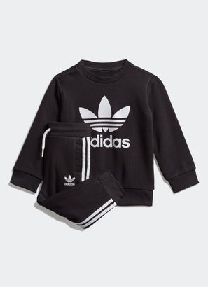 adidas Crew Sweatshirt 2Pc Set - Infants/Toddlers