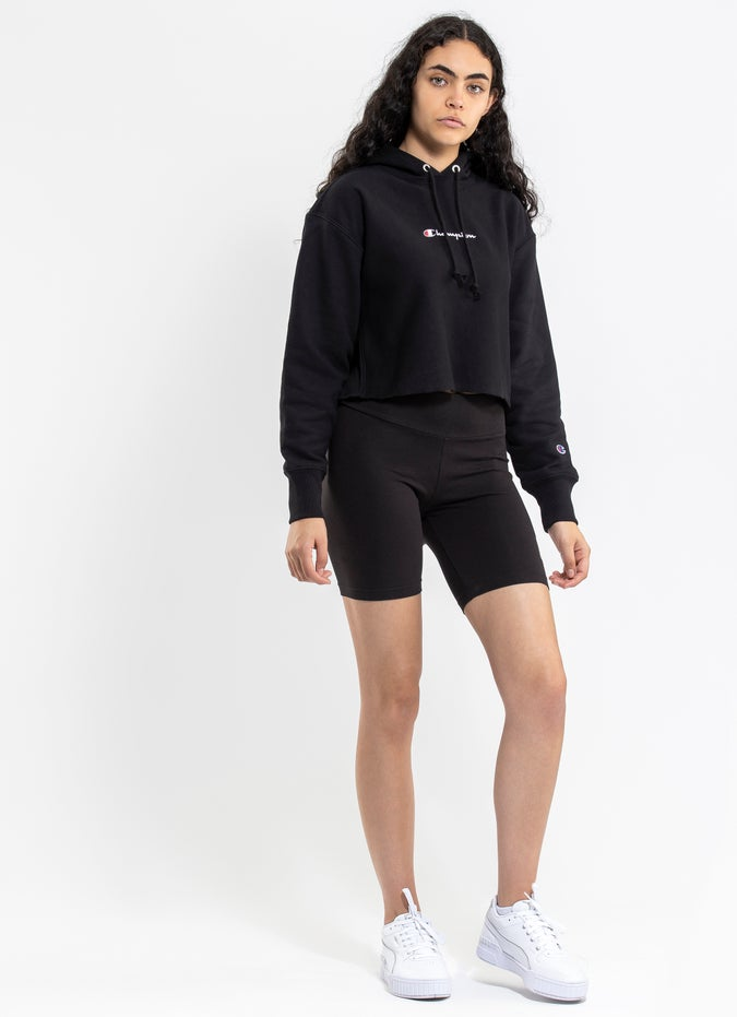 Champion Reverse Weave French Terry Cropped Hoodie - Womens