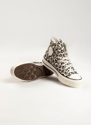 Converse Chuck Taylor All Star Leopard Print Platform High Shoe