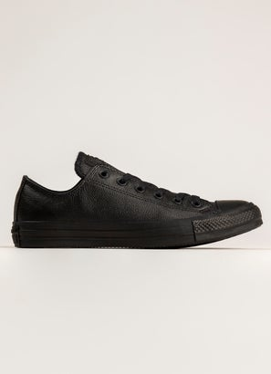 Converse Chuck Taylor All Star Low 'Leather' Monochrome Shoe