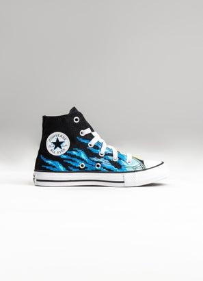Converse Chuck Taylor All Star Pixel Flame High Shoe - Kids