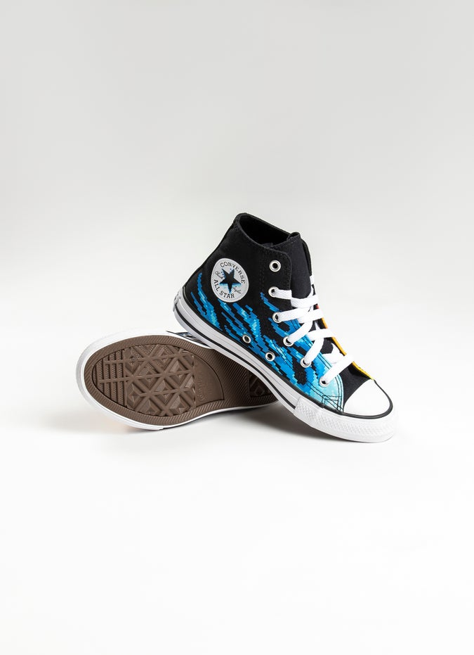 Converse Chuck Taylor All Star Pixel Flame High Shoe - Kids