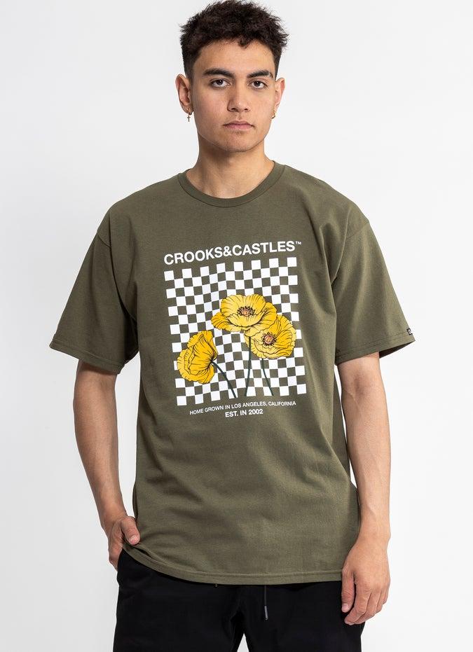 Crooks & Castles Poppy Checkered Tee