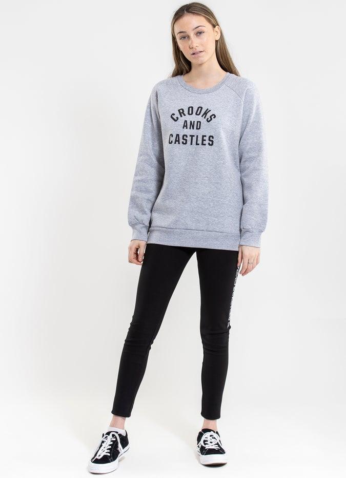 Crooks & Castles Womens Crooks Block Knit Crew