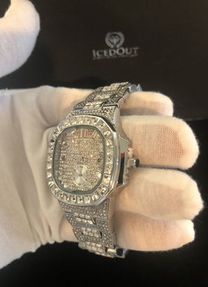 Iced Out 42mm Baguette Watch