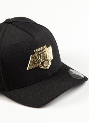 Majestic NHL Los Angeles Kings Gold Enamel 110 Pinch Snapback