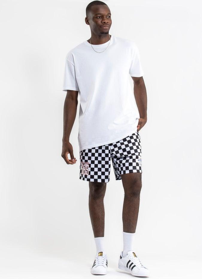 Mitchell & Ness All Star Checkered Mesh Court Short
