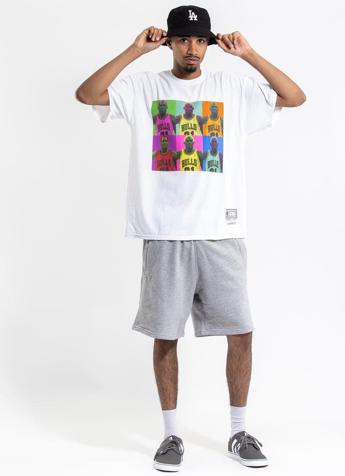 Mitchell & Ness NBA Chicago Bulls 'Dennis Rodman' Colour Block Vintage Tee