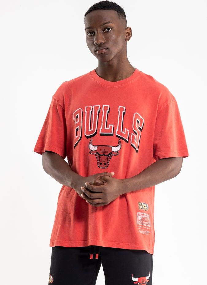 Mitchell & Ness NBA Chicago Bulls Keyline Logo Vintage Tee