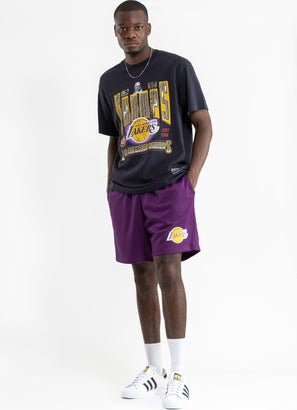 Mitchell & Ness NBA Los Angeles Lakers Basic Mesh Court Short