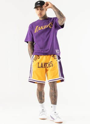 Mitchell & Ness NBA Los Angeles Lakers Blown Out Shorts