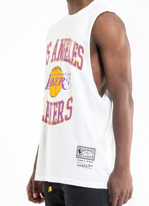 Mitchell & Ness NBA Los Angeles Lakers Vintage Crest Muscle Tee