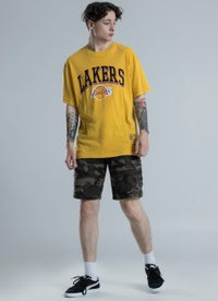 Mitchell & Ness NBA Los Angeles Lakers Vintage Keyline Logo Tee
