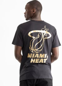 Mitchell & Ness NBA Miami Heat Team Foil Logo Tee