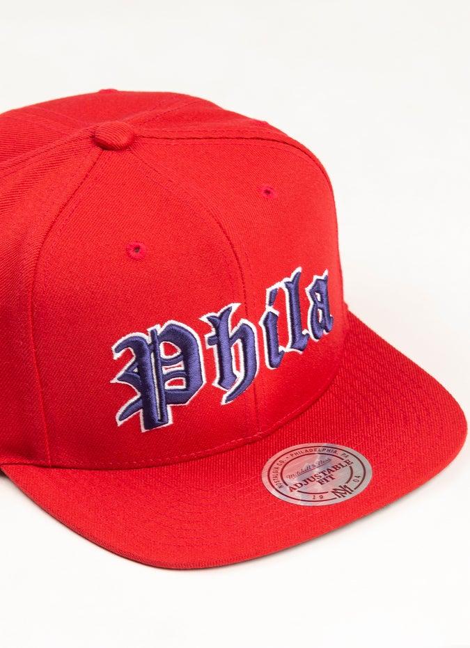 Mitchell & Ness NBA Philadelphia 76ers Old English Faded Snapback Cap