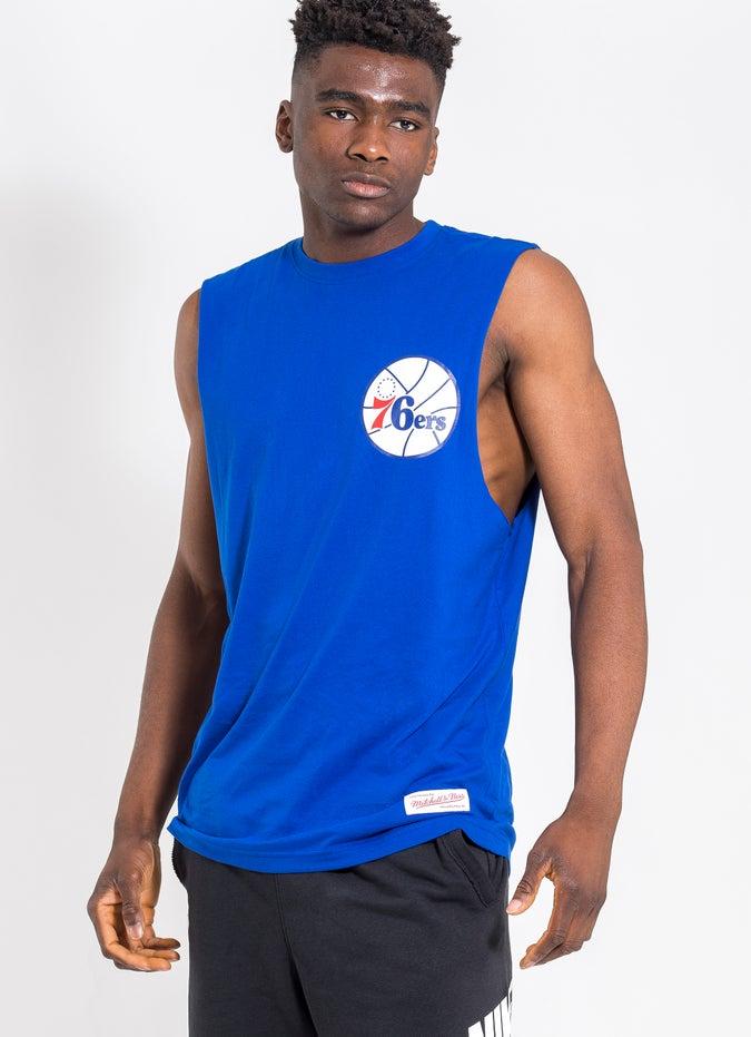 Mitchell & Ness NBA Philadelphia 76ers Old English Muscle Tee