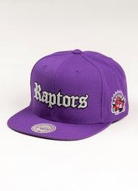 Mitchell & Ness NBA Toronto Raptors Old English Faded Snapback Cap