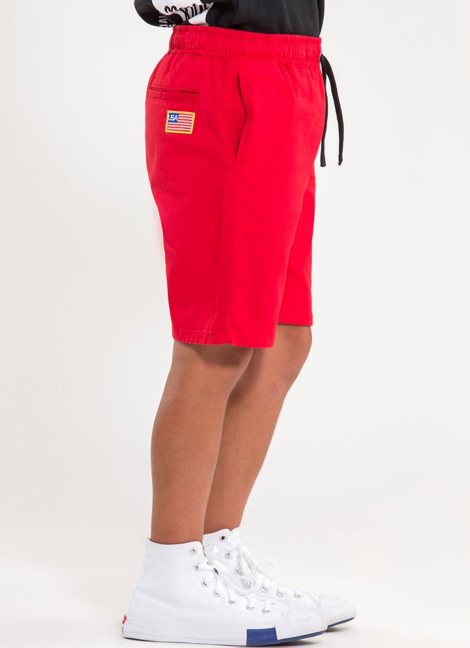 M.O.K Red Shorts - Kids