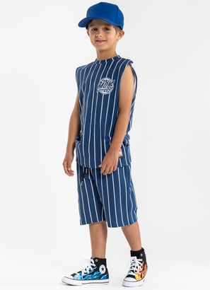 M.O.K. Striped Shorts