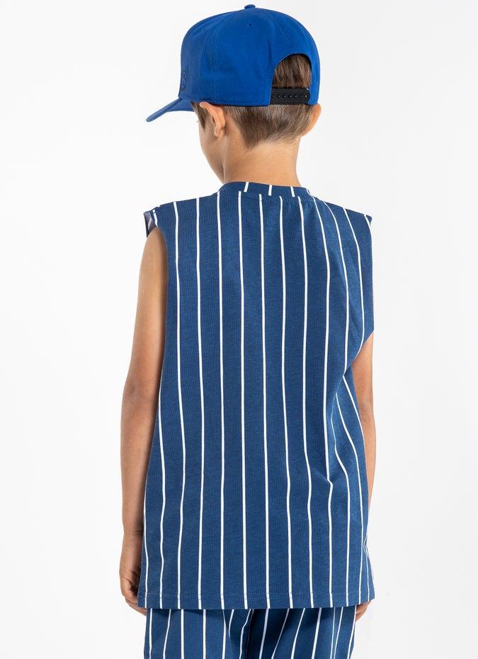 M.O.K. Striped Singlet