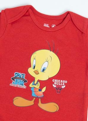 NBA Looney Tunes Bulls Cutest Tweety Creeper - Baby