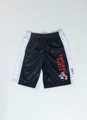 NBA Loony Tunes Bulls Team Backboard Block Mesh Shorts  - Youth