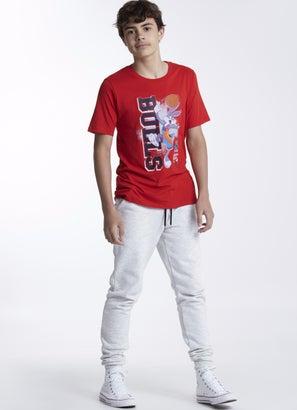 NBA Loony Tunes Bulls Vertical Tunes T-Shirt - Youth