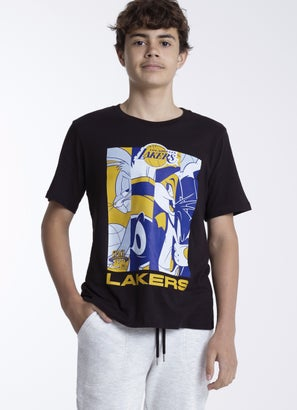 NBA Loony Tunes Lakers Mod Squad T-Shirt - Youth