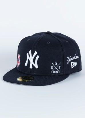 New Era 5950 MLB New York Yankees Multi Logo Fitted Cap