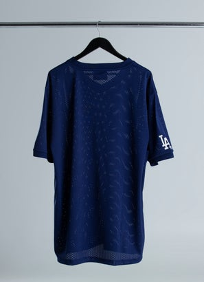 New Era MLB Los Angeles Dodgers Oversize Wordmark Mesh Jersey - Plus Size