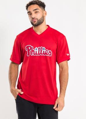 New Era MLB Philadelphia Phillies Oversize Wordmark Mesh Jersey