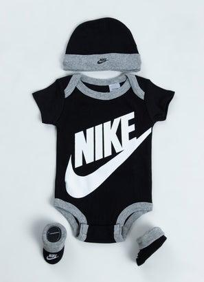 Nike Futura Hat/Bodysuit/Booties 3Pcs Set