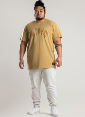 Outlaw Collective Oversized Tonal Tee - Big and Tall