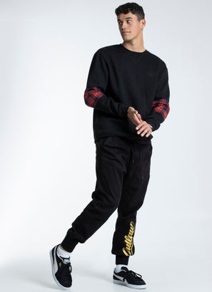 Outlaw Collective Panelled Sleeve Crew