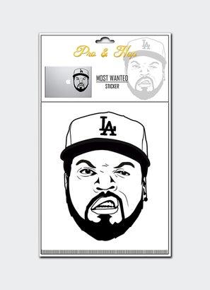 Pro & Hop Most Wanted Large Transparent Sticker