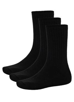 PROCLUB Black Crew Socks
