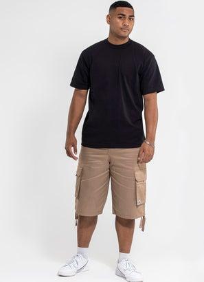 PROCLUB Heavy Weight Black T-Shirt