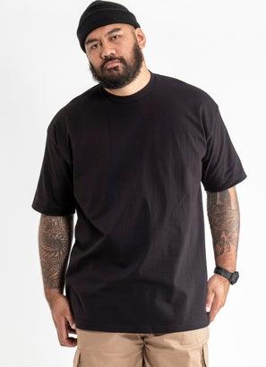 PROCLUB Heavy Weight Black T-Shirt - Big & Tall