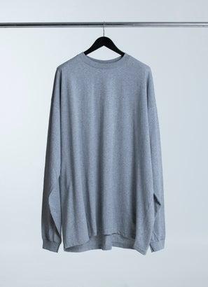 PROCLUB Heavy Weight Heather Grey Long Sleeve T-Shirt - Big & Tall