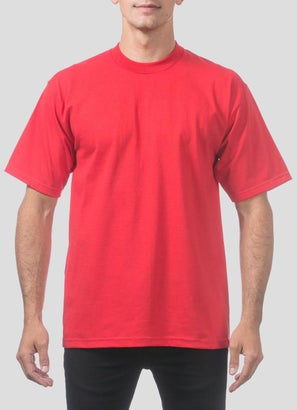 PROCLUB Heavy Weight Red T-Shirt