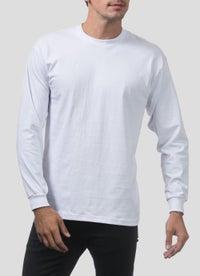 PROCLUB Heavy Weight White Long Sleeve T-Shirt