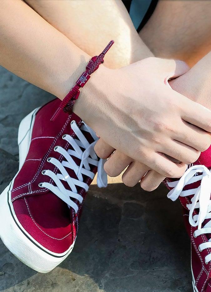 """Rastaclat """"Pitch"""" Braided Bracelet"""