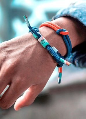 "Rastaclat ""Power On"" Knotted Bracelet"