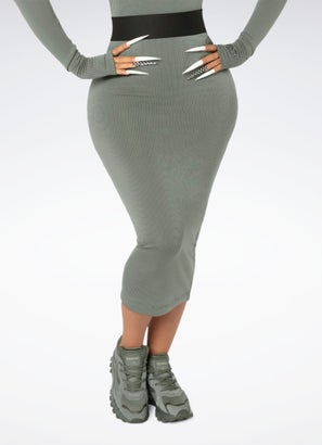 Reebok X Cardi Ribbed Skirt