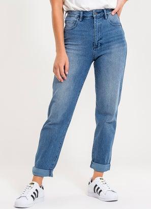 Riders Hi Mom Curve Jeans - Womens