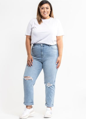 Riders Hi Mom Jeans - Plus & Curve